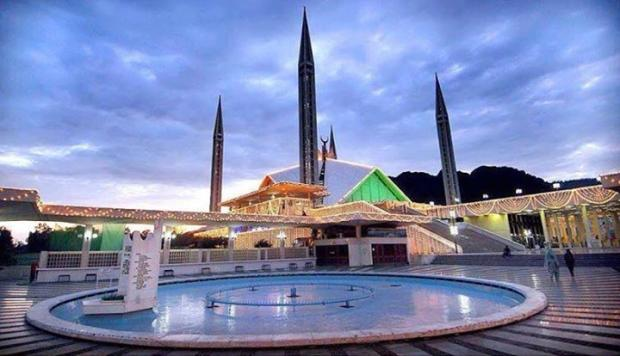Beautiful Faisal Masjid, Islamabad, Pakistan