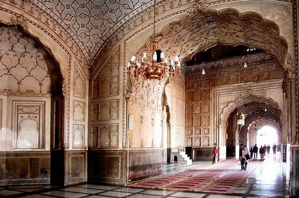 Beautiful Interior View Of Badshahi Masjid