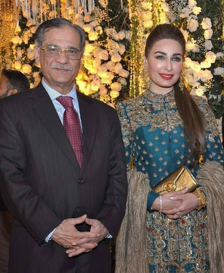 CJP Saqib Nisar With Reema At A Recent Wedding