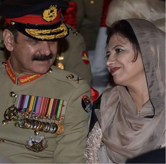 Ex DG ISPR. Lt. Gen. Asim Saleem Bajwa With Wife