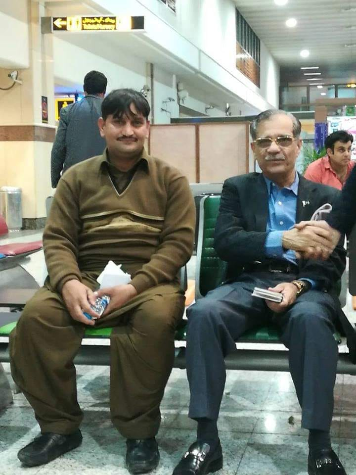 Former Chief Justice At Lahore Airport