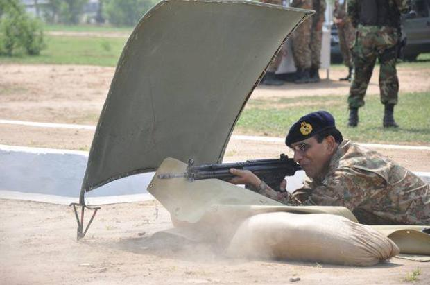 General Kayani firing at Army Firing Range at Jhelum