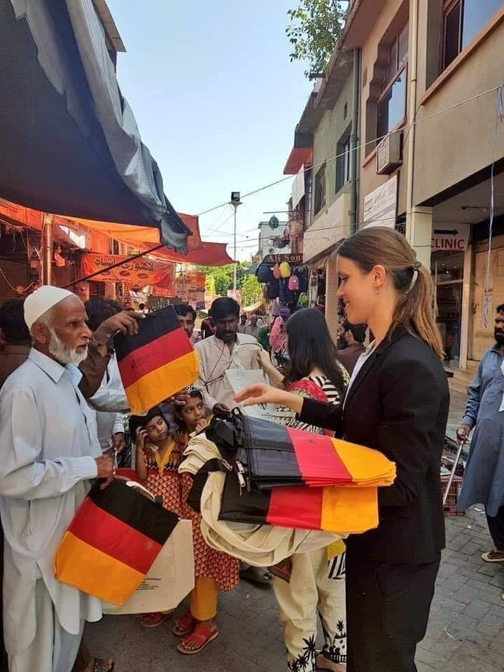 German Embassy Staff Distributes Cloth Bags After Plastic Ban