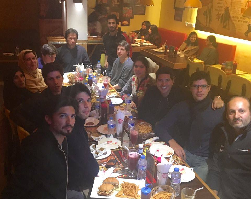 Imran Khan New Year Celebration with family