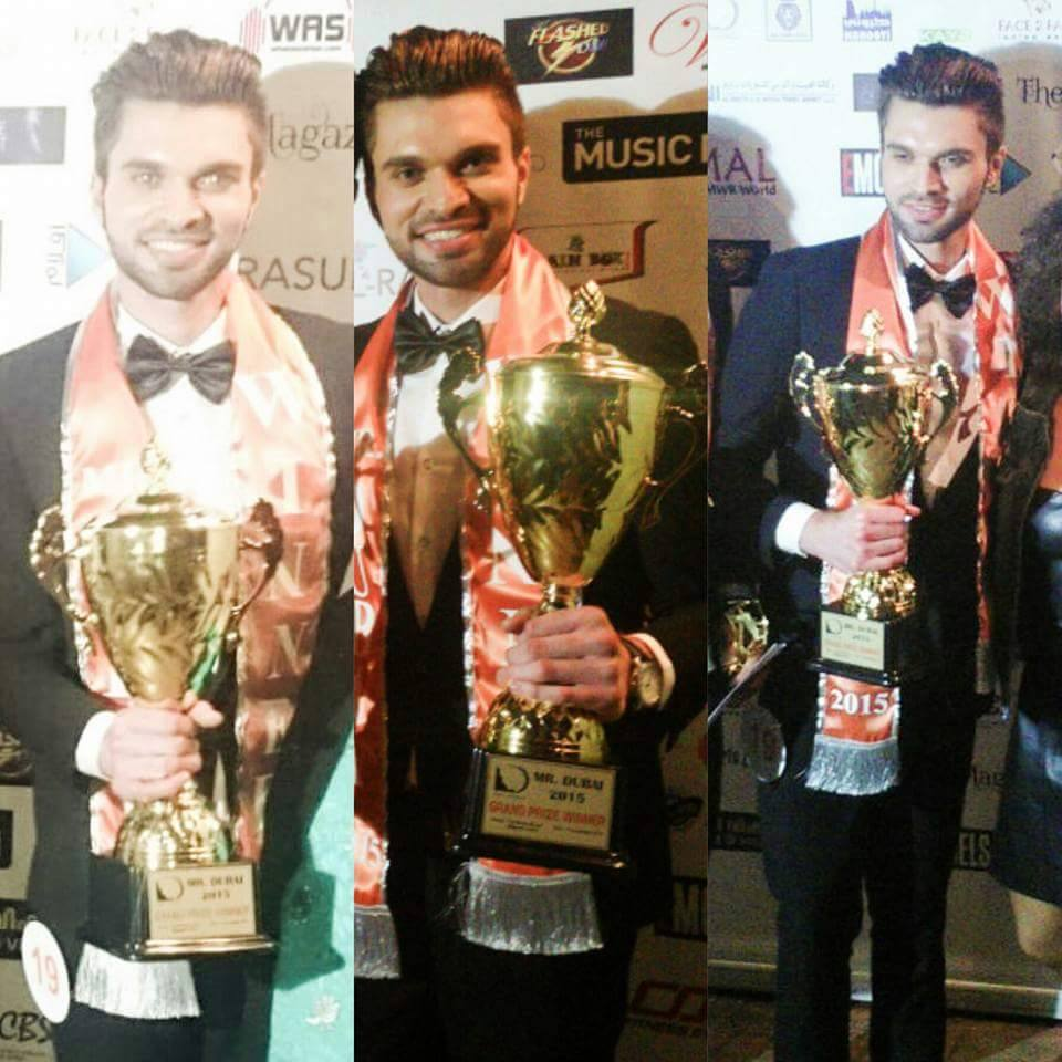 Imran Umer, Pakistani model bags Mr.Dubai 2015 title