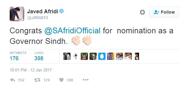 Is Shahid Afridi Next Governor Sindh?
