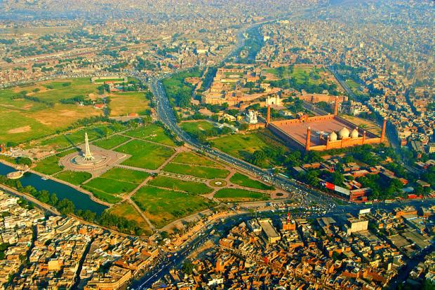 Lahore Pakistan Birds Eye View