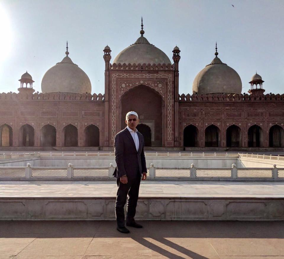 London Mayor Sadiq Khan At Badshahi Mosque In Lahore