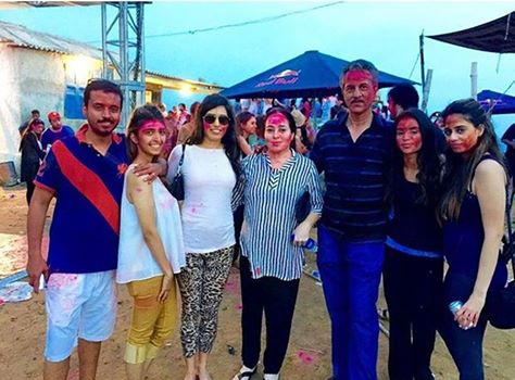 Mayor of Karachi Wasim Akhtar AT Holi Party