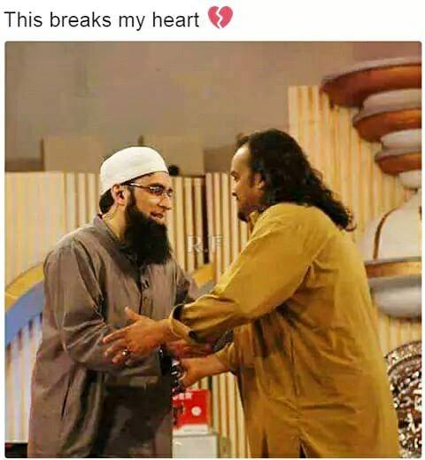 Memorable Photo Of Amjad Sabri & Junaid Jamshed