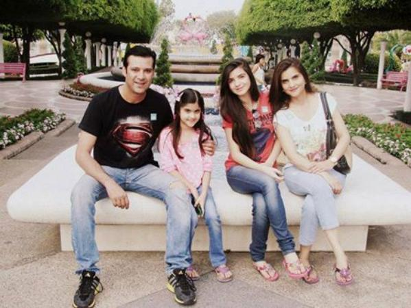 Moammar Rana With Family