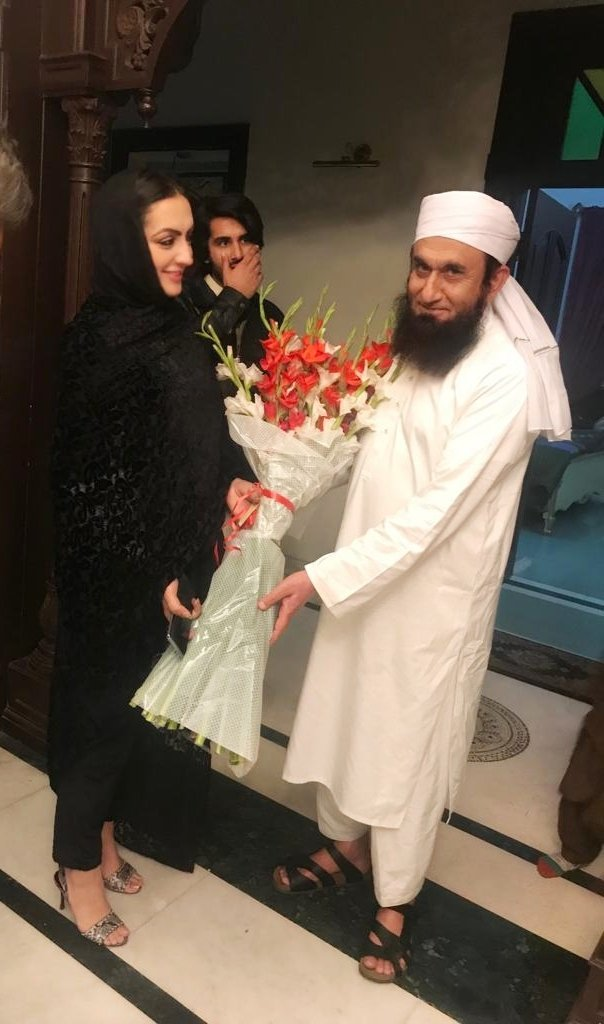 Momina Basit Inquiries After Maulana Tariq Jameel