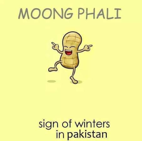 Moong Phali.. Sign of winters in Pakistan