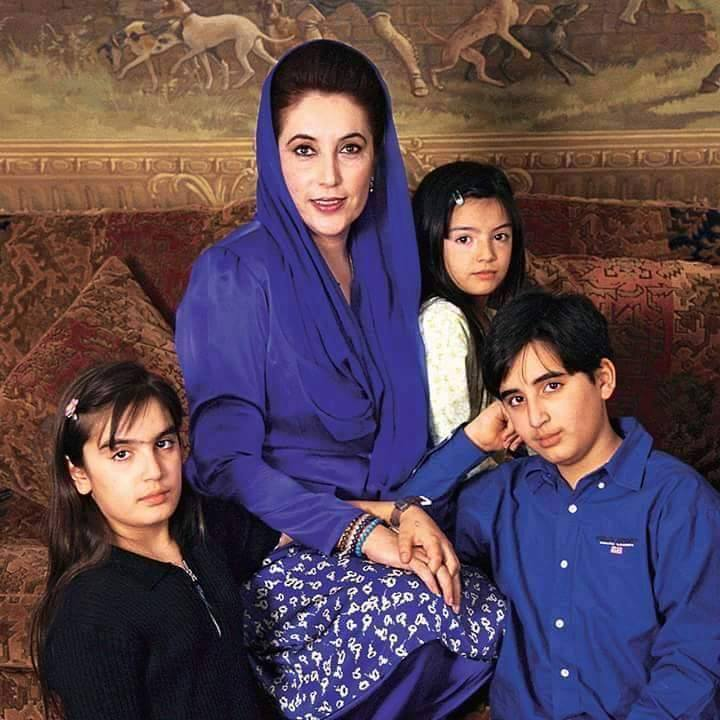 Old Pics - Benazir Bhutto with her Children