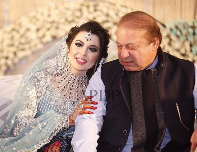 PM Nawaz Sharif With His Grand Daughter Mehrunnisa Safdar on her Wedding