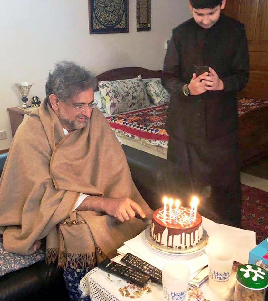 PM Shahid Khaqan Abbasi Celebrating His 59th Birthday