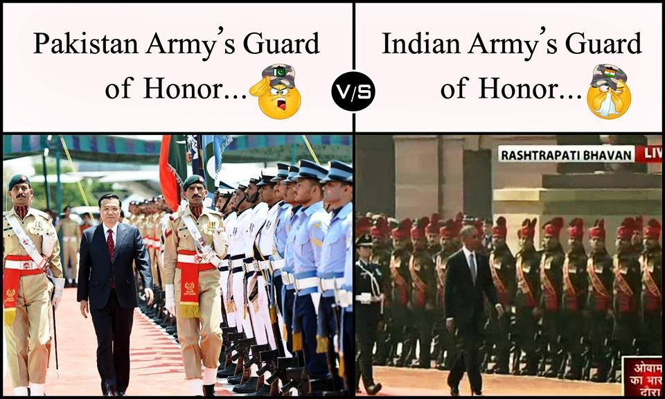 Pakistan Army Guard Of Honor Vs Indian Army Guard Of Honor