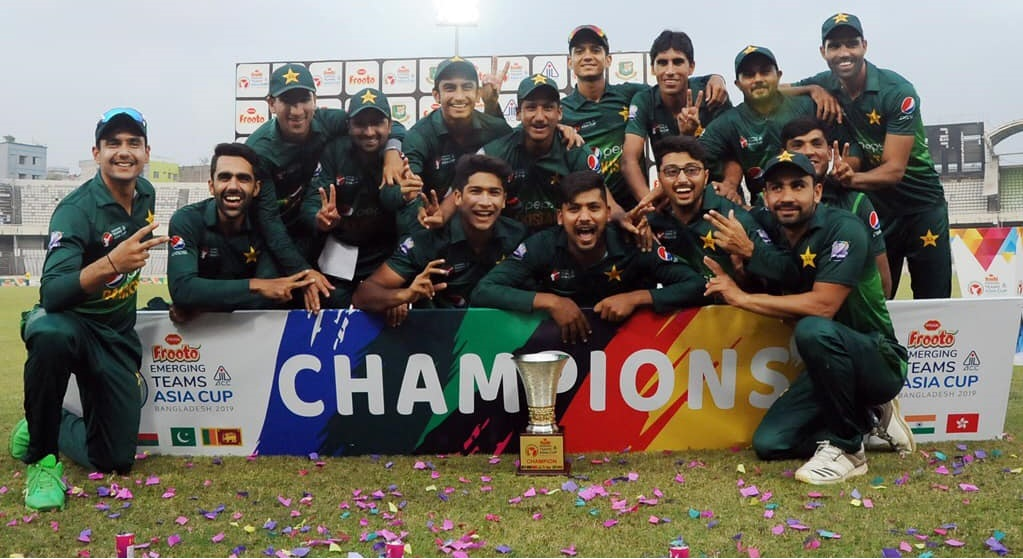 Pakistan Win ACC Emerging Teams Asia Cup 2019 Trophy