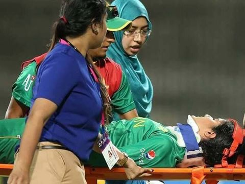 Pakistan women cricketer Javeria Khan Injured