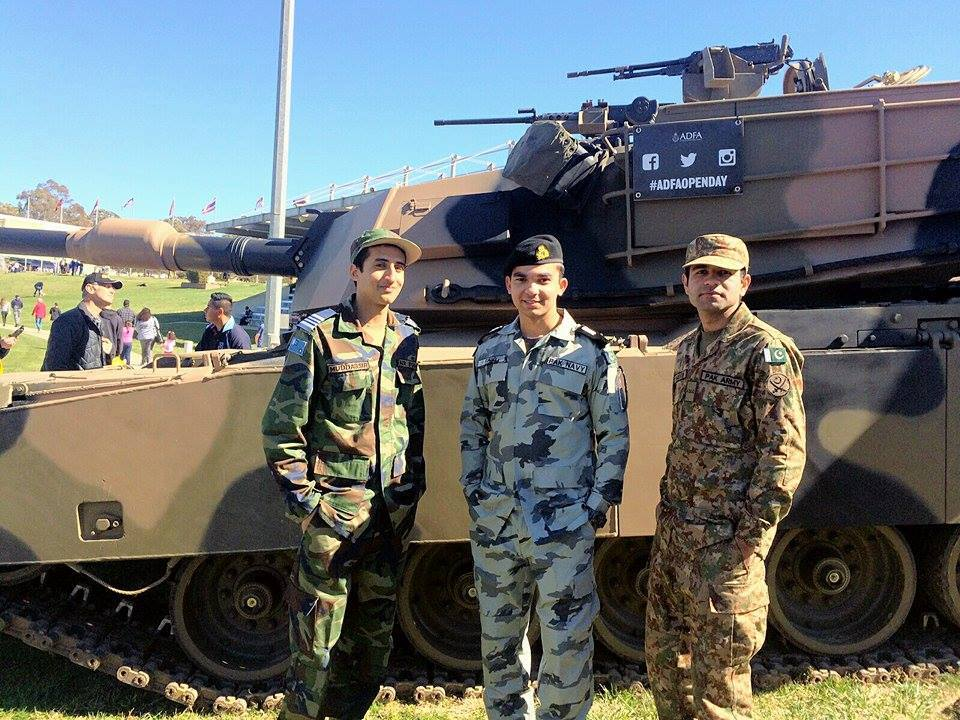 Pakistani Cadets from Tri-Services Representing Pakistan in Australia