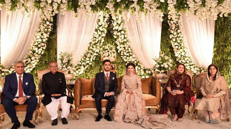 President Arif Alvi Attend The Wedding Reception Of General Bajwa's Son