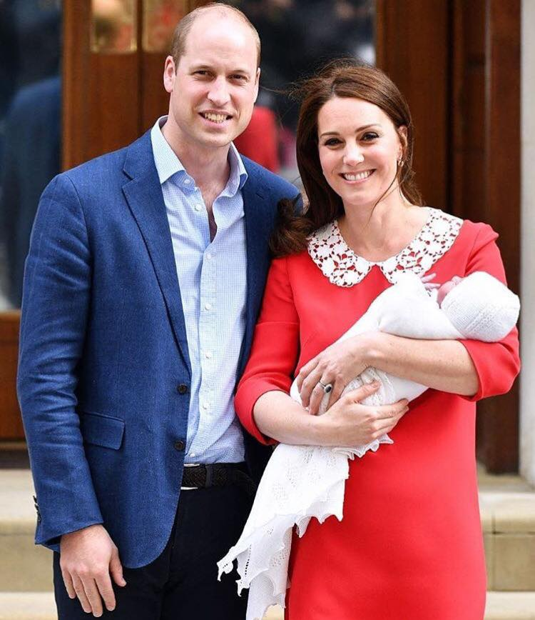 Prince William & Duchess Kate With Their New Born Baby