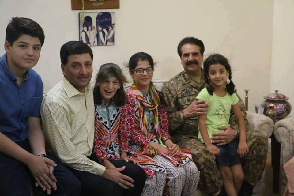 Raheel Sharif With Family