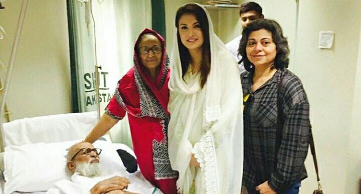 Reham Khan visit hospital to meet Abdul Sattar Edhi