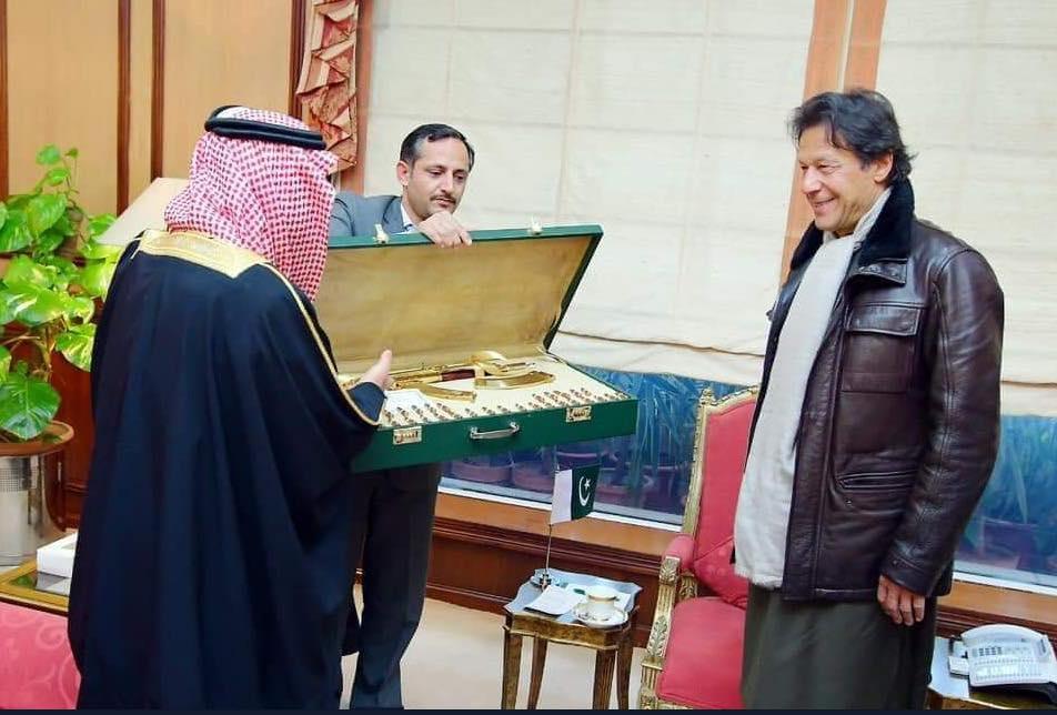 Saudi Prince Gifts Pakistan's Imran Khan Gold-Plated Kalashnikov