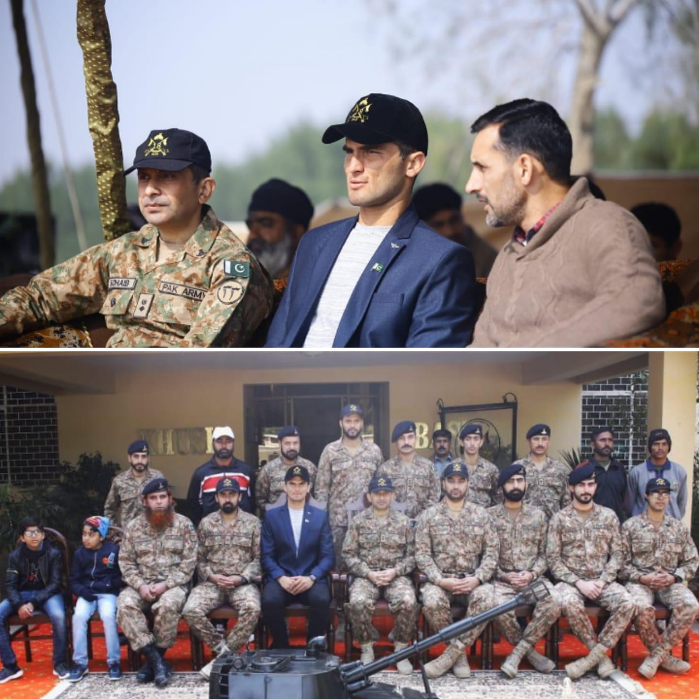 Shaheen Shah Afridi Spent Sometime With Pakistan Army Troops In Kashmore On Quaid