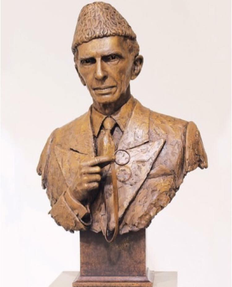 Statue Of Quaid-e-Azam At The Historic British Museum