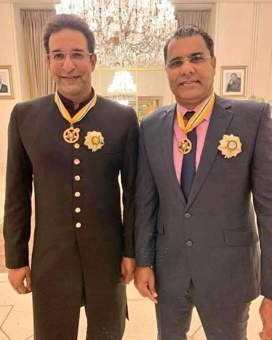 Wasim Akram & Waqar Younis Were Awarded Hilal-E-Imtiaz Award On Pakistan Day