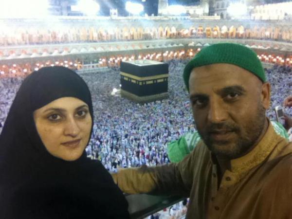 Afzal Khan and Sahiba On Hajj