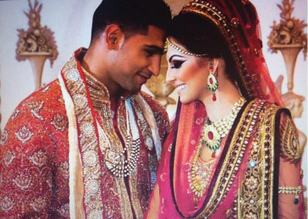Amir Khan & Faryal Makhdoom Wedding/Marriage Picture