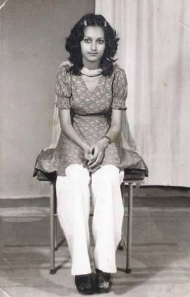 An old Click of Bushra Ansari from her early teens