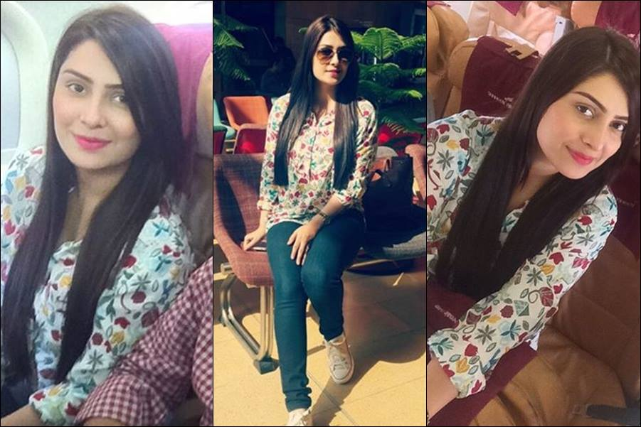 Ayeza Khan Spotted At Karachi Airport
