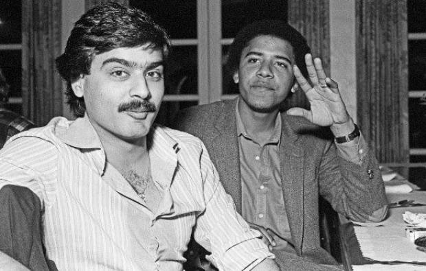Barack Obama and his roommate Hasan Chandoo at Occidental College in 1981