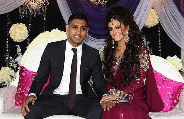 Boxer Amir Khan & Faryal Makhdoom Wedding/Marriage Picture