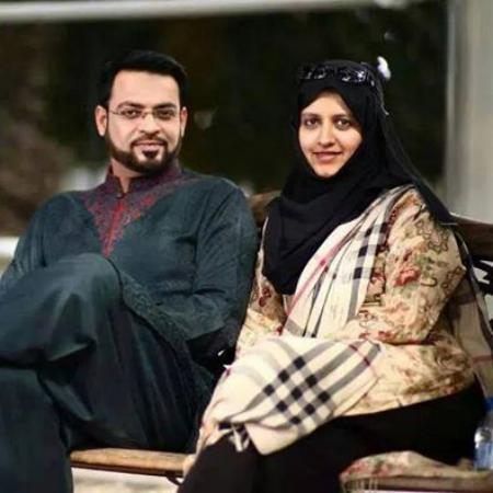 Dr. Aamir Liaquat Hussain With His Wife Bushra