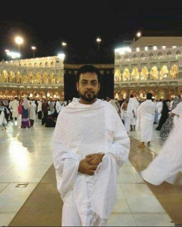 Dr.Amir Liaquat In haram shareef during umrah on Eid
