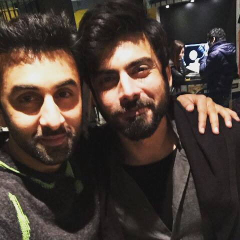 Exclusive Two heartthrobs Fawad Khan and Ranbir Kapoor on set of