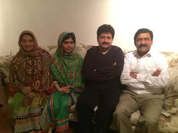 Hamid Mir with Malala Yousafzai