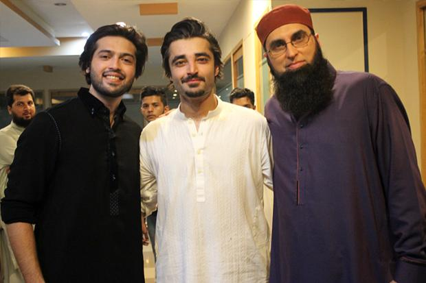 Hamza Ali Abbasi With Junaid Jamshed And Fahad Mustafa
