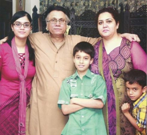 Hassan Nisar with his family