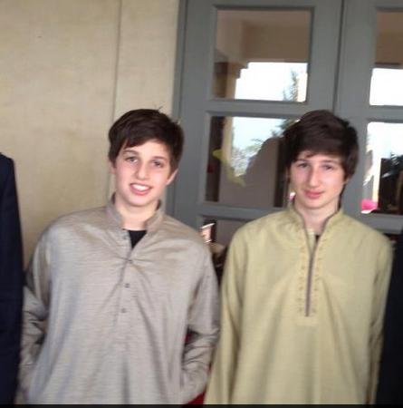 Imran Khan Sons Sulaiman Isa Khan and Qasim Khan