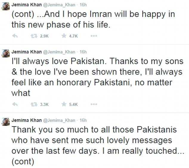 Jemima Khan Congratulates Imran Khan On His Wedding