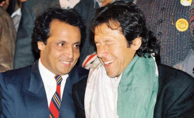 Just a classic pic. Imran with Umar