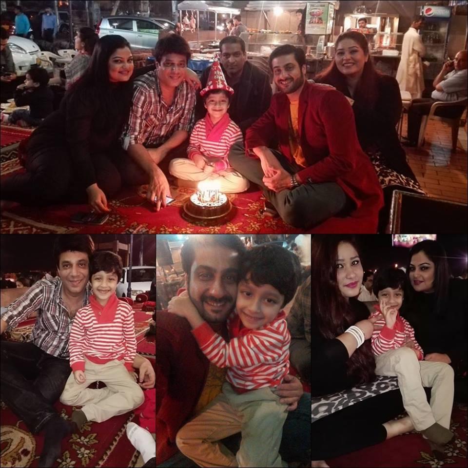 Kamran Jeelani Celebrating Birthday OF His Cute Son Ayyan