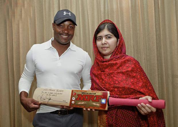 Malala Yousufzai With Great Batman Brian Charles Lara