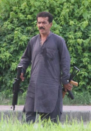 Malik Sikander Hayat - Armed Man In Islamabad